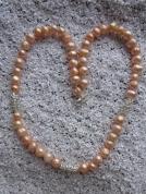 Zeltainu laškrāsas pērļu rota ar kristālu starplikām